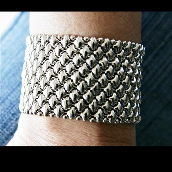 31f086382f4 sergio gutierrez Jewelry   Liquid Metal Mesh Cuff Bracelet   Poshmark